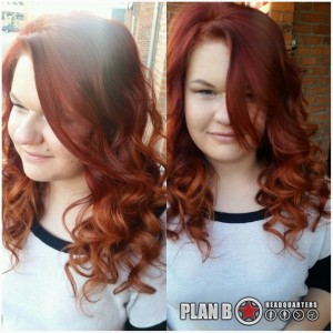 Plan B kelowna hair salon: Gorgeous red hair colour