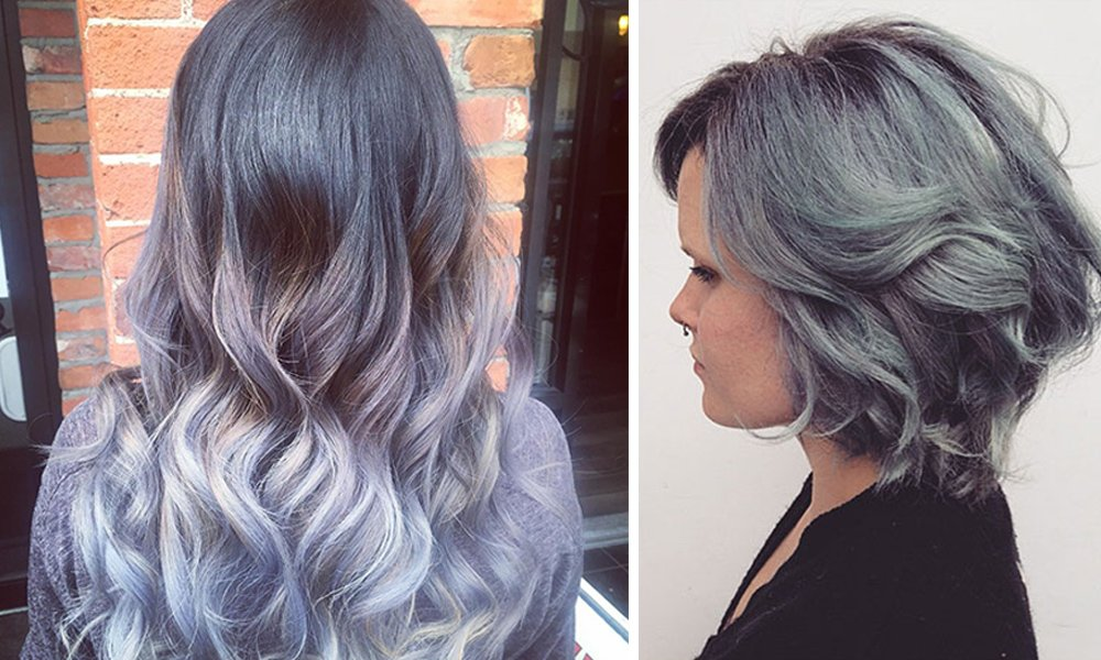 Grey hair colour by stylists at Plan B Hair Salon in Kelowna