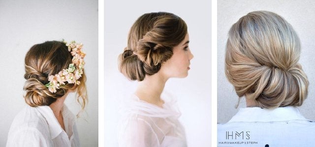 Wedding hair ideas: Gibson Roll