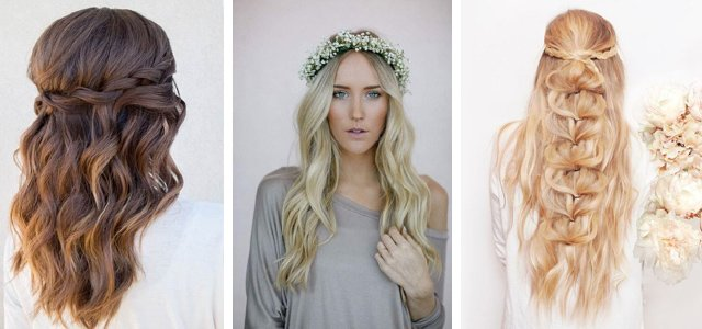 Wedding hair ideas: romantic waves and curls