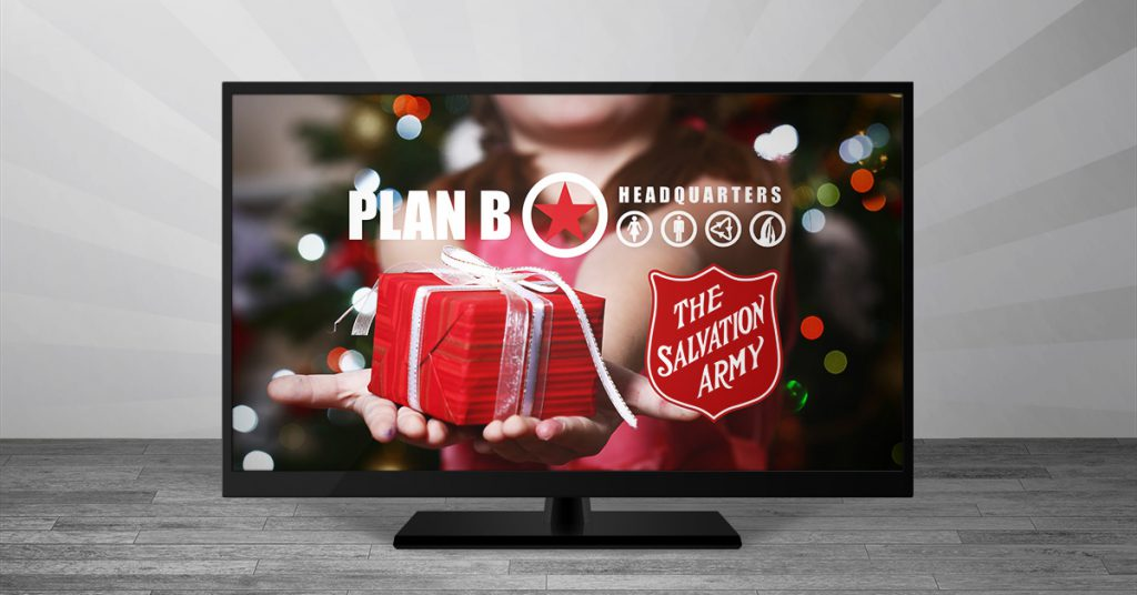 Plan B Kelowna Hair Salon | TV Giveaway | Salvation Army Donation